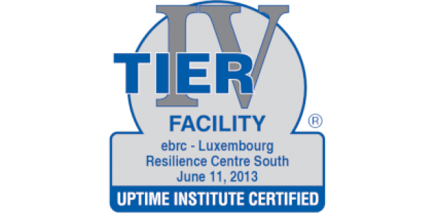 EBRC is certified Tier IV Facility for its Luxembourg Resilience Centre South