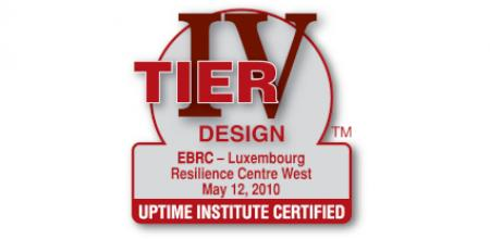 EBRC is certified Tier IV Design for its Luxembourg Resilience Centre West